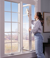 cleaning a casement window